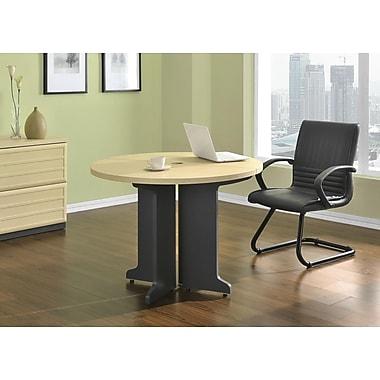 Altra Pursuit Round Office Table Bundle, Natural/Gray