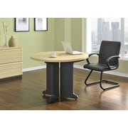 Altra Pursuit Round Office Table Bundle, Natural/Gray
