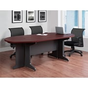 Altra Pursuit Small Conference Table Bundle, Cherry/Gray