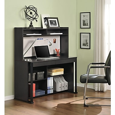 Altra Furniture Ventura Desk with Hutch, ESPRESSO