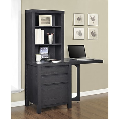 Altra Furniture Storage Tower with Gate Leg Side Table, ESPRESSO