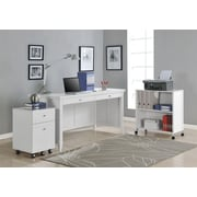 Altra Furniture Amelia Desk with Mobile Storage Cube and File, WHITE