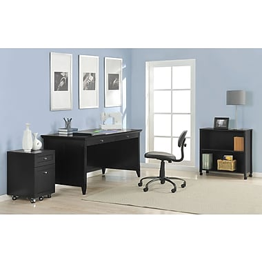 Altra Furniture Amelia Desk with Mobile Storage Cube and File, BLACK
