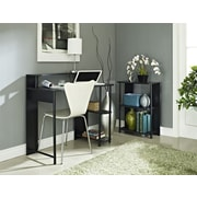 Altra Furniture Computer Desk and Bookcase Set, Black Finish, BLACK