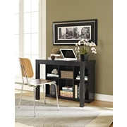 Altra Parsons Desk with Cubbies, Black Oak