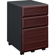 Altra Pursuit Mobile File Cabinet, Cherry/Gray