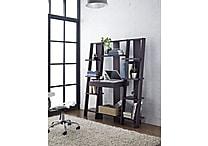 Altra Furniture Ladder Bookcase with Desk, Espresso, ESPRESSO