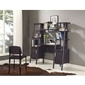 Altra Furniture Ladder Office Wall with Cabinets, ESPRESSO