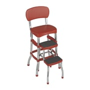 Cosco Products Cosco Red Retro Counter Chair / Step Stool, RED