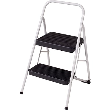 Cosco Products Cosco Two Step Household Folding Step Stool, COOL GRAY