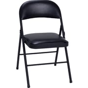 Cosco Products Cosco Vinyl Folding Chair Black (4-pack), BLACK