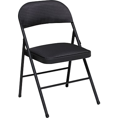 Cosco 14995JBD4E Fabric Folding Chair, Black