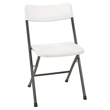 Cosco 37825WSP4E Resin Folding Chair, White