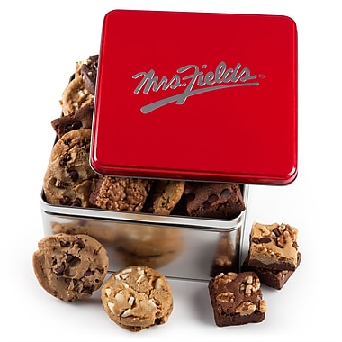 Mrs. Fields® 12 Cookies and 12 Brownies Tin Classic