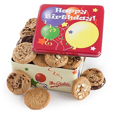 Mrs. Fields® 12 Cookie Birthday Tin