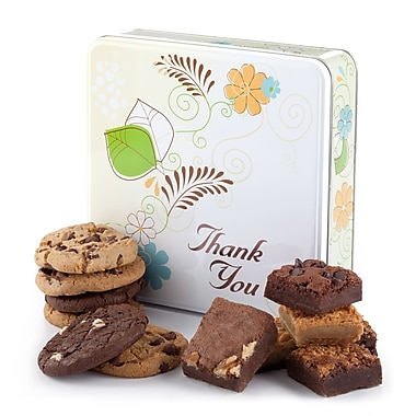 Mrs. Fields®6 Cookies and 6 Brownies Thank You Tin