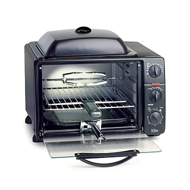 Maxi-Matic® Elite ProToaster Oven With Rotisserie and Grill Top, Gray