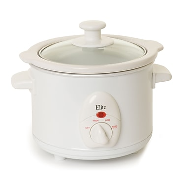 Maxi-Matic® Elite 1.5 Quart Mini Slow Cooker, White