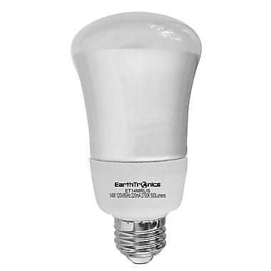 Earthbulb® 14 W 2700K R20 Floodlight Compact Florescent Bulb, Soft White