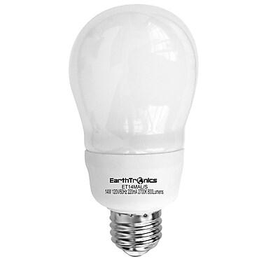 Earthbulb® 14 W 2700K A Shape Compact Fluorescent Light Bulb, Soft White