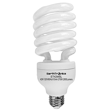 Earthbulb® 42 W 2700K T3 Spiral Compact Fluorescent Light Bulb, Soft White