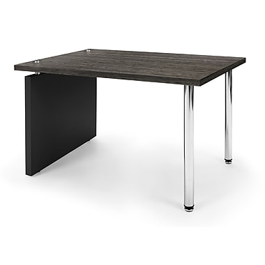 OFM™ Profile Series Laminated Lamp Table With Steel Tube Legs, Asian Night/Black Leg Panel