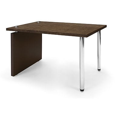 OFM™ Profile Series Laminated Lamp Table With Steel Tube Legs, Windswept Bronze/Brown Leg Panel