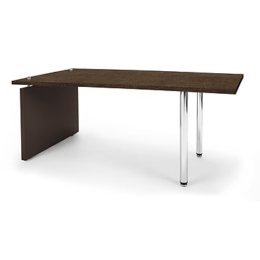 OFM™ Profile Series Laminated Cocktail Table With Steel Tube Legs, Windswept Bronze/Brown Leg Panel