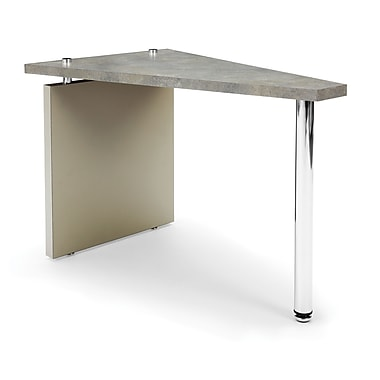 OFM™ Profile Series Laminated Wedge Table With Steel Tube Legs, Painted Screen/Gray Leg Panel