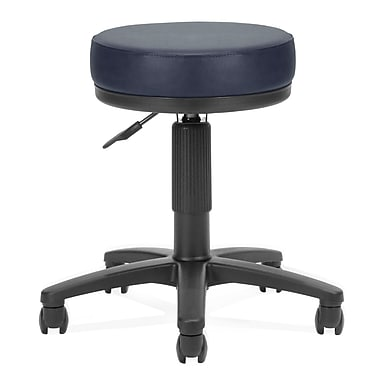 OFM™ 3in. Anti-Bacterial Vinyl Padded Utilistool, Navy