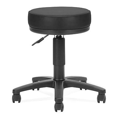 OFM™ 3in. Anti-Bacterial Vinyl Padded Utilistool, Black