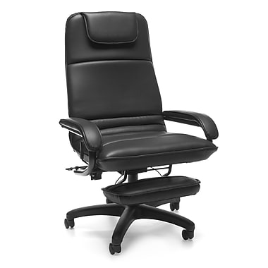 OFM™ Barrister Vinyl Executive Recliner, Black