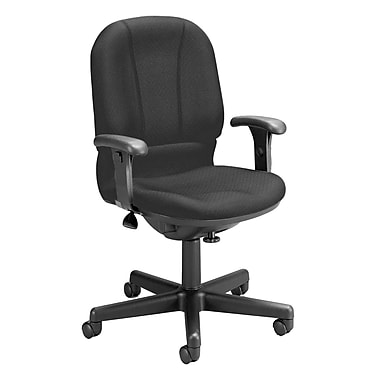 OFM Posture Fabric Computer and Desk Office Chair, Black, Adjustable Arm (811588015023)