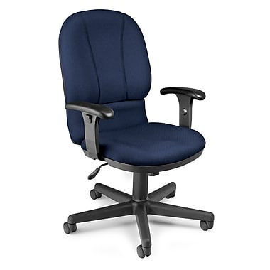 OFM™ Posture Series Fabric Task Chair With Adjustable Arms, Navy
