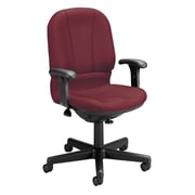 OFM Posture Mid-Back Fabric Task Chair, Adjustable Arms, Wine