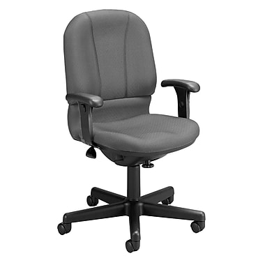 OFM Posture Foam Computer and Desk Office Chair, Gray, Adjustable Arm (811588015054)