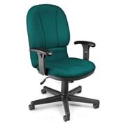OFM Mid-Back Fabric Task Chair, Adjustable Arm, Teal