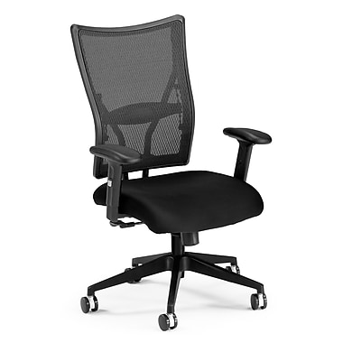OFM Talisto Series Fabric Executive Chair With Mesh Low-Back, Black