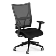 OFM Talisto Mid-Back Fabric Executive Chair, Adjustable Arms, Black
