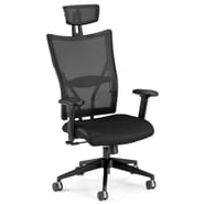 OFM Talisto Series Leather Executive Chair With Mesh High-Back, Black