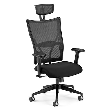 OFM 590-F Talisto Fabric High-Back Executive Chair with Adjustable Arms, Black