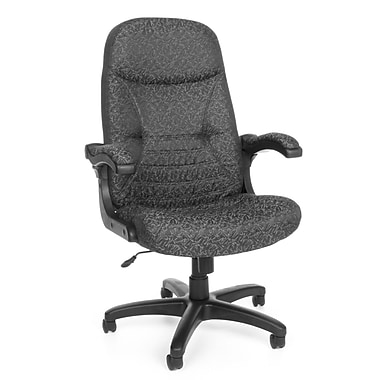 OFM 550-301 MobileArm Fabric High-Back Executive Chair with Adjustable Arms, Gray Carbon