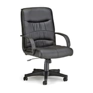 OFM Encore Series Leatherette Executive Chair With Mid-Back, Black