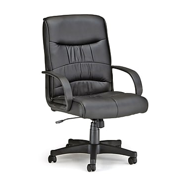 OFM 508-LX Encore Leatherette Mid-Back Executive Chair with Fixed Arms, Black