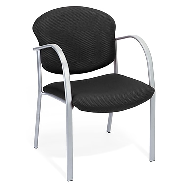 OFM™ Danbelle Series Fabric Contract Guest/Reception Chair With Waterfall Seat, Ebony
