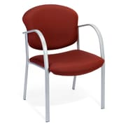 OFM™ Danbelle Series Fabric Contract Guest/Reception Chair With Waterfall Seat, Burgundy