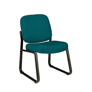OFM Fabric Padded Guest/Reception Chair With Fully Upholstered Back, Teal