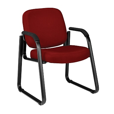 OFM Steel Guest/Reception Chair, Wine (403-803)