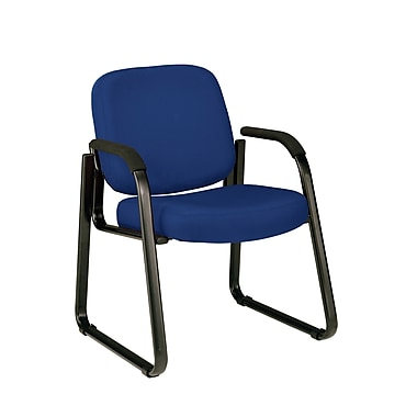 OFM™ Fabric Padded Guest/Reception Chair With Arms and Fully Upholstered Back, Navy