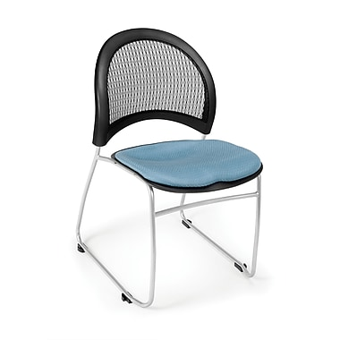 OFM Moon Series Fabric Stack Chair With Mesh Back, Cornflower Blue